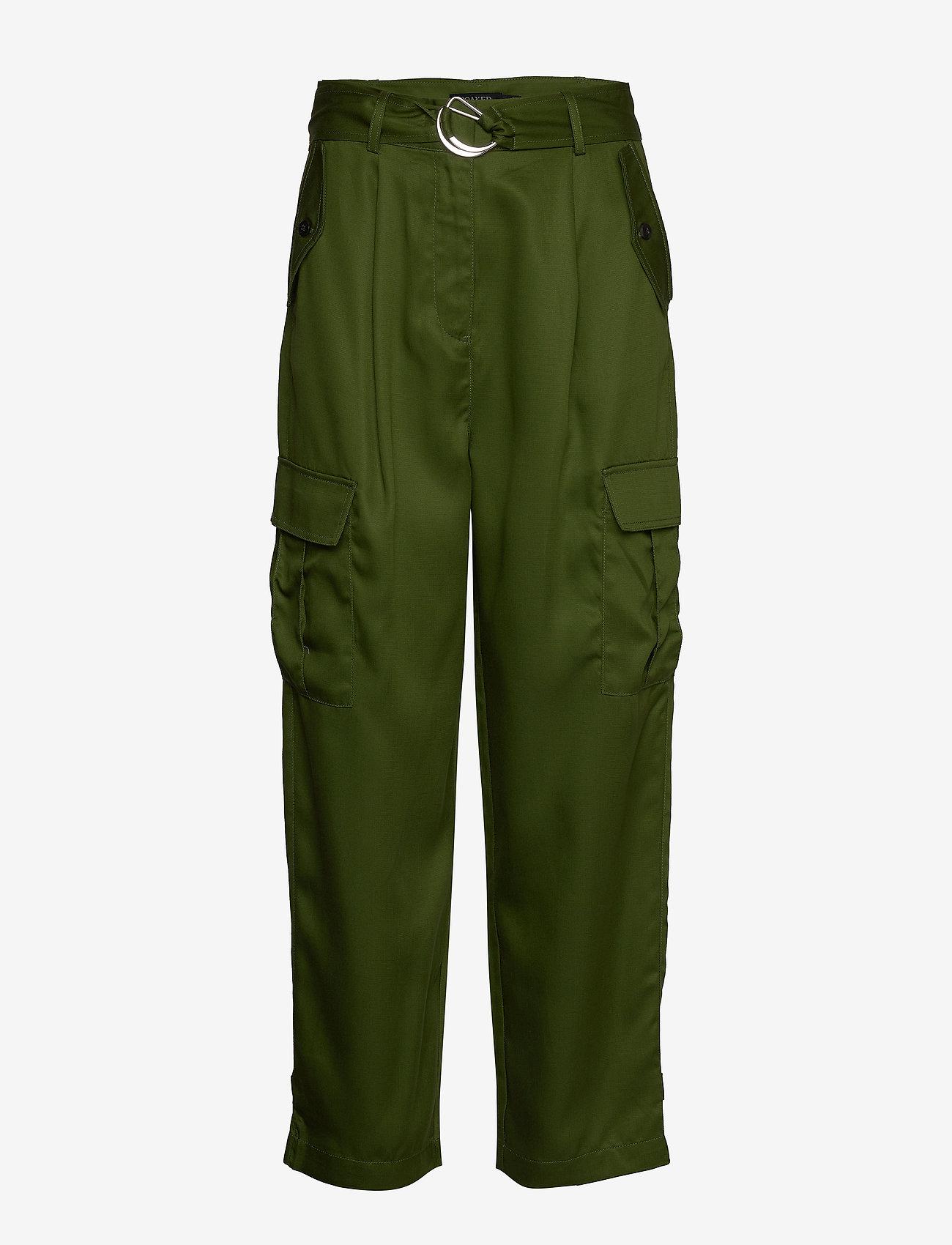 Soaked in Luxury - SLLamia Pants - bukser med brede ben - garden green - 0