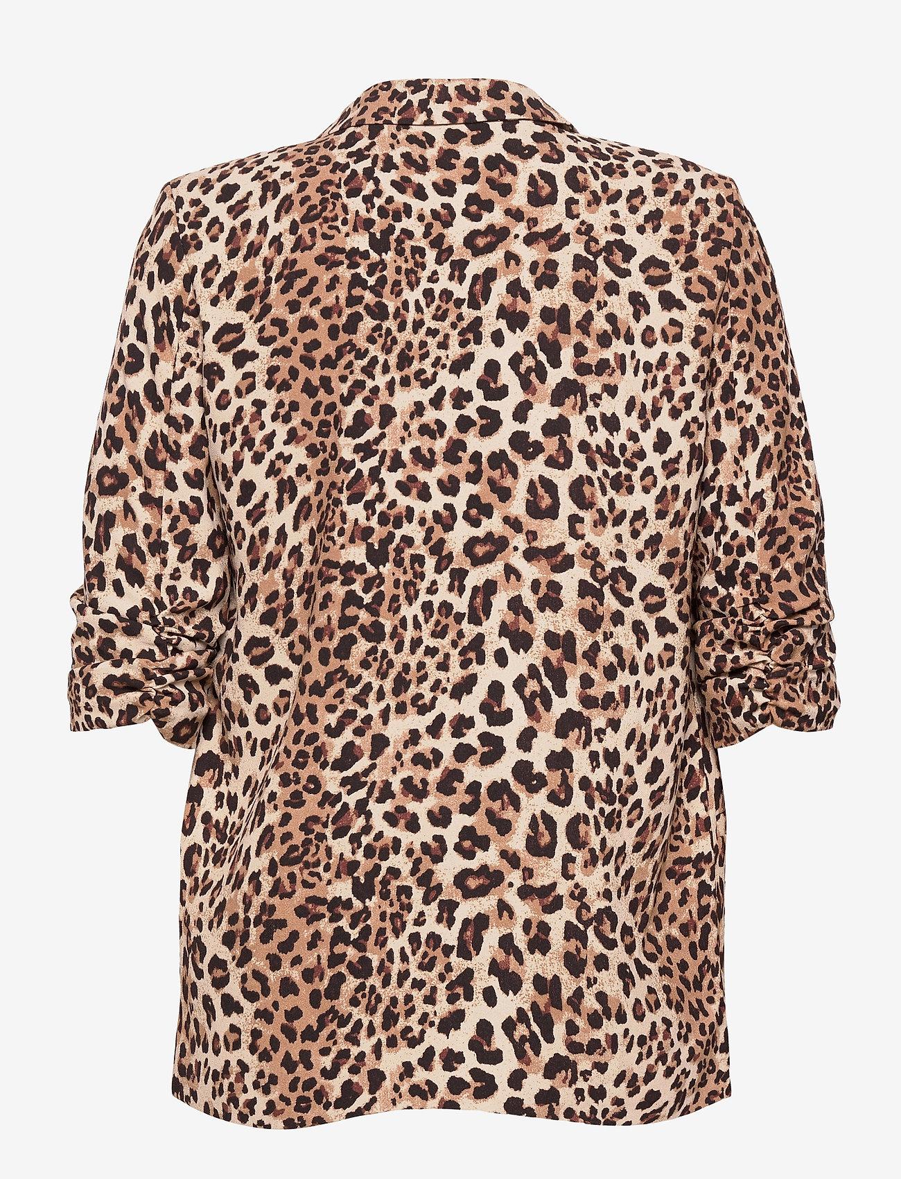 Soaked in Luxury - SLShirley Printed Blazer - casual blazers - beige leopard - 1