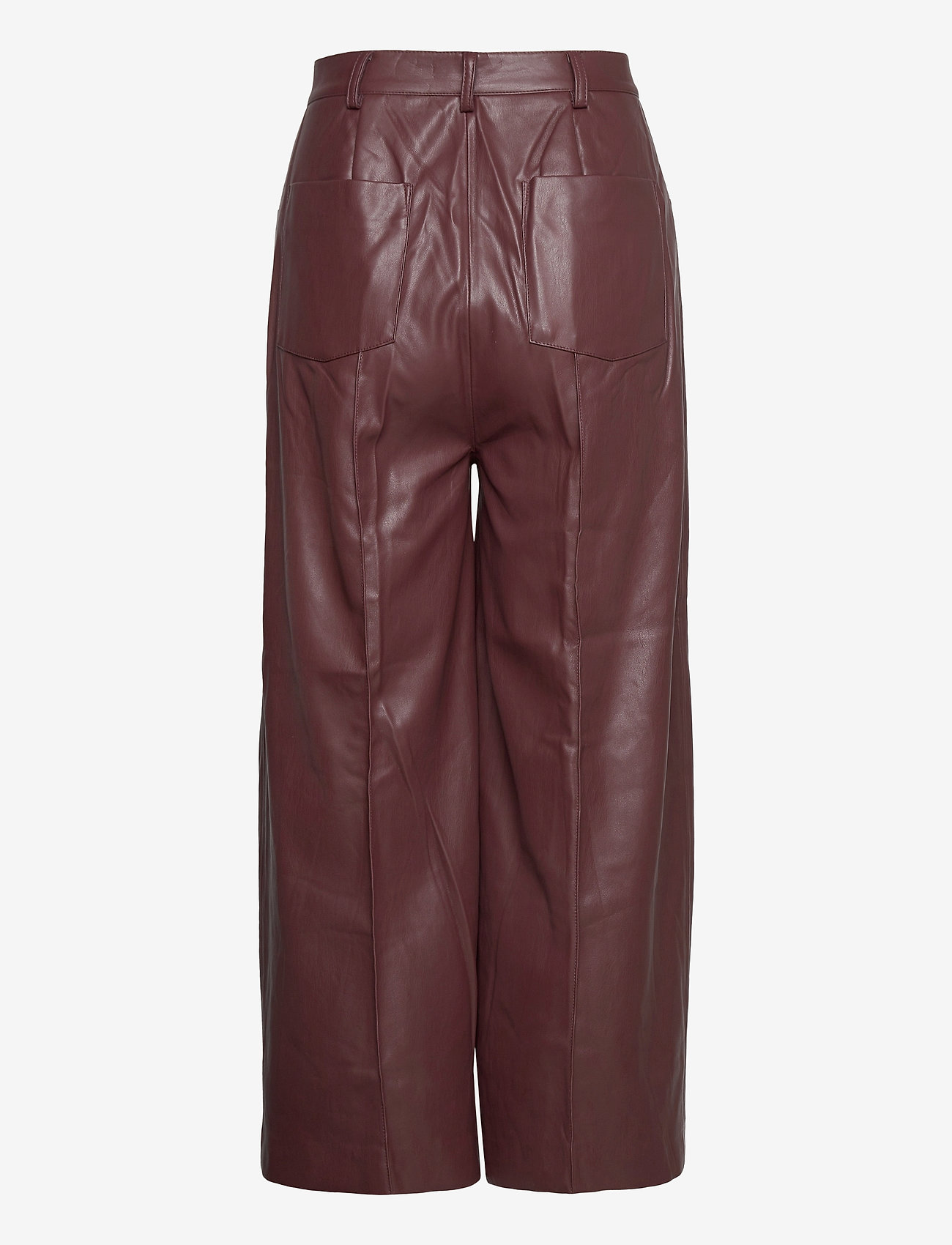 Soaked in Luxury - SLPatrice Pants - bukser med brede ben - rum raisin - 1