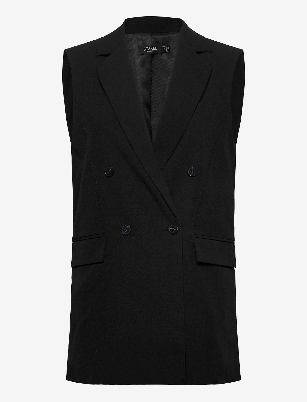 Soaked in Luxury - SLIlu Suiting Waistcoat - getailleerde blazers - black - 0