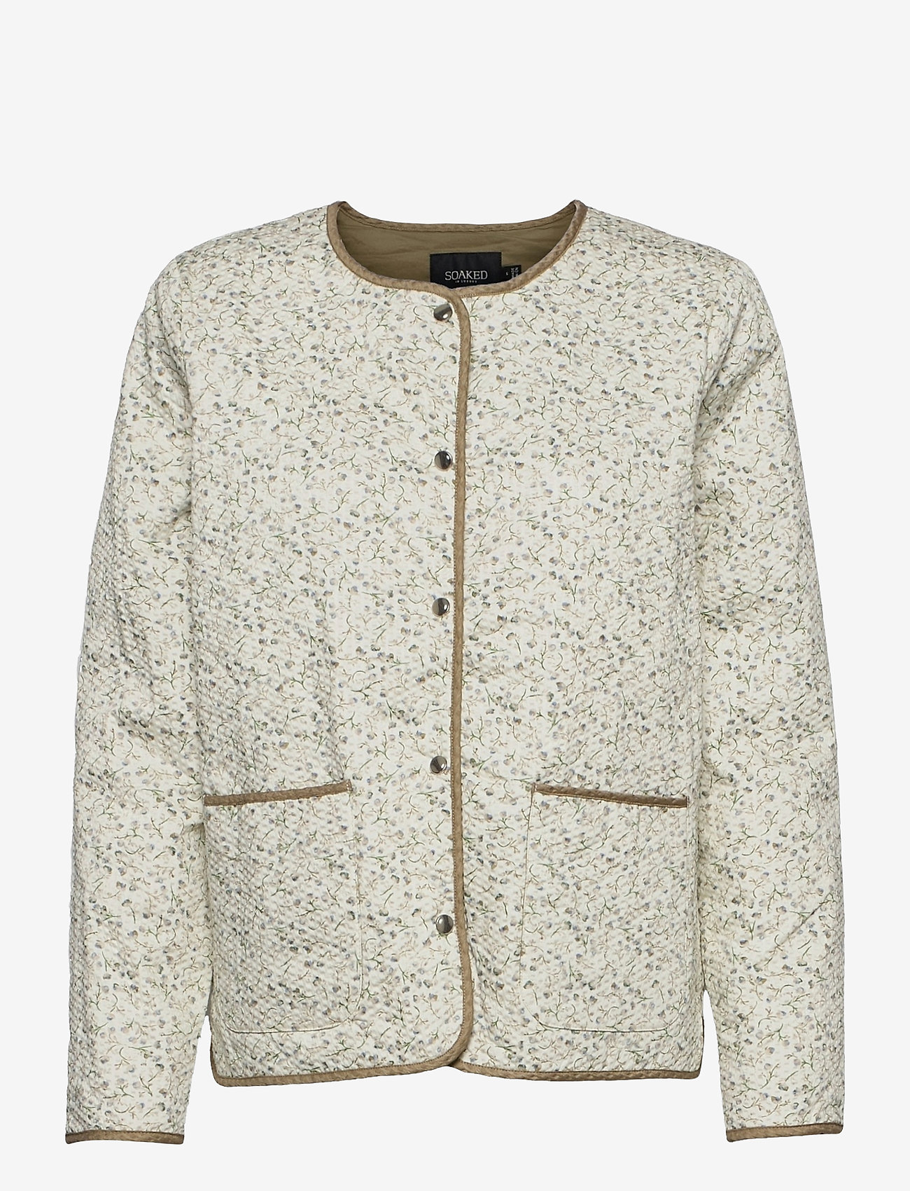 Soaked in Luxury - SLBanks Jacket LS - quilted jackets - viol print whisper white - 1