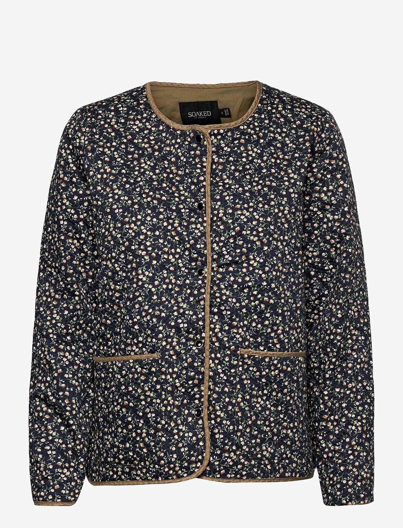 Soaked in Luxury - SLBanks Jacket LS - quiltede jakker - viol print parisian night - 1