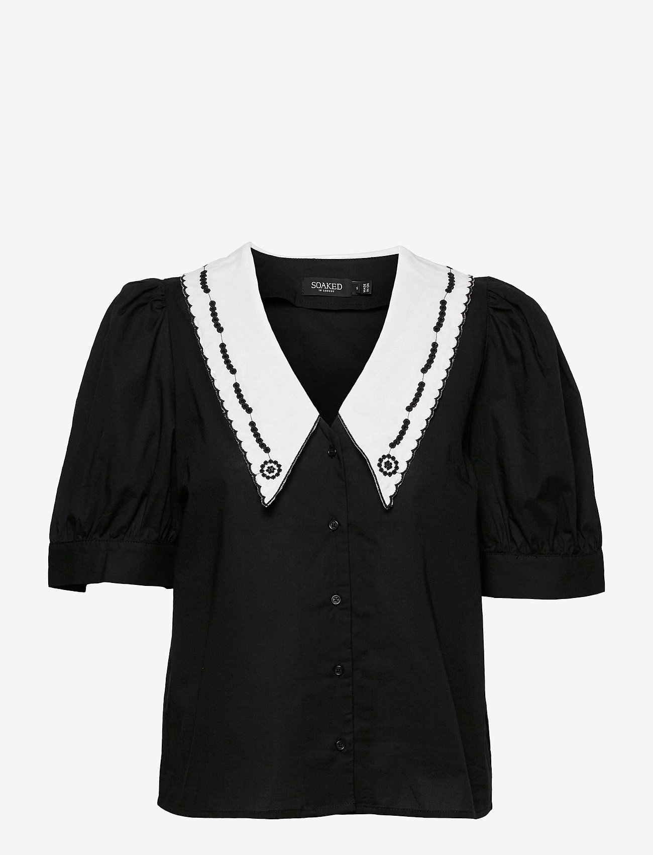 Soaked in Luxury - SLFlor Shirt - short-sleeved shirts - black - 1