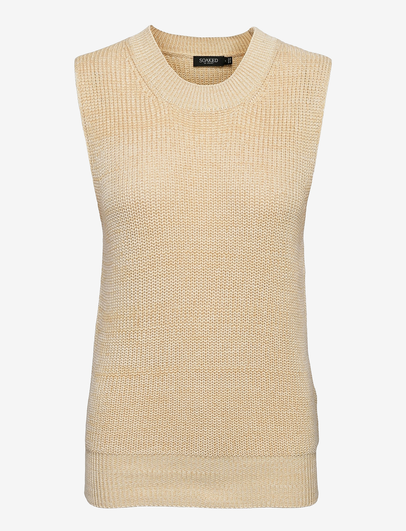 Soaked in Luxury - SLLottie Vest - knitted vests - warm sand melange - 0