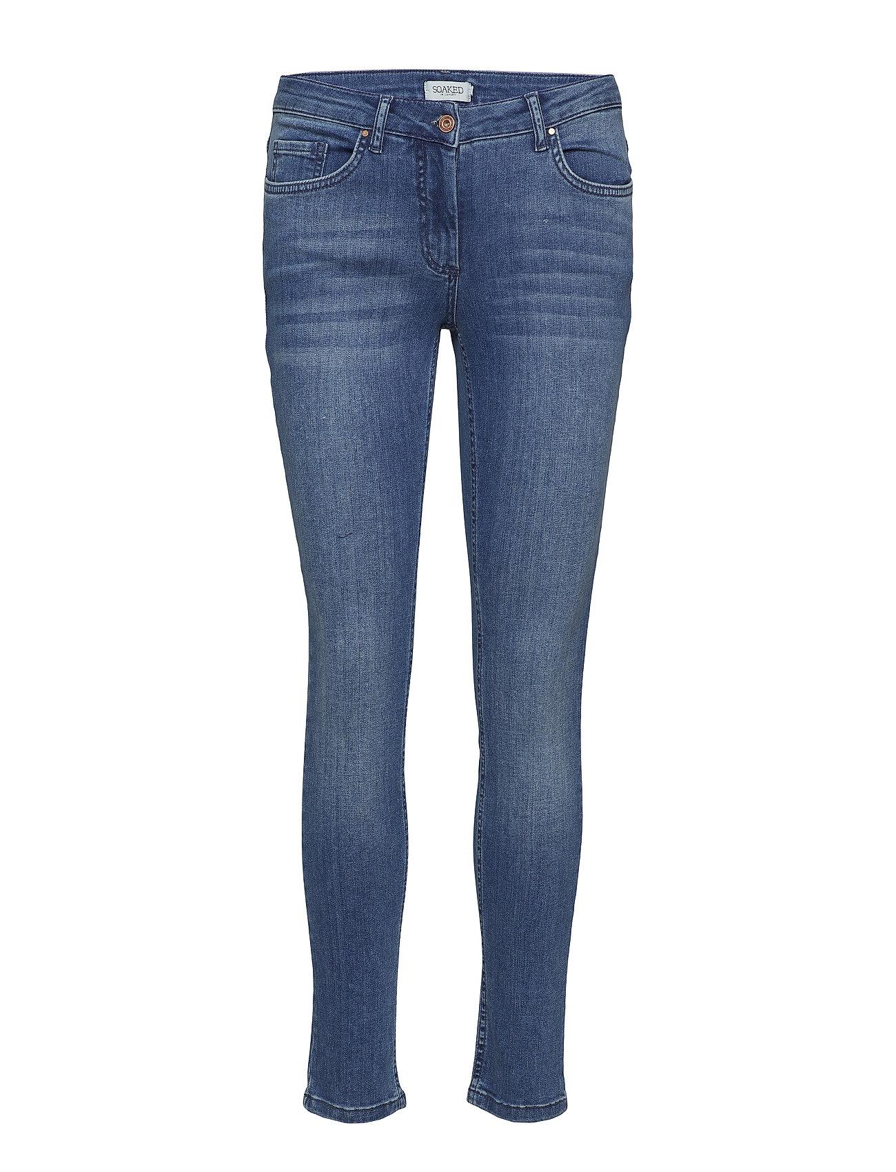 Soaked in Luxury Callas Jeans - MEDIUM BLUE DENIM