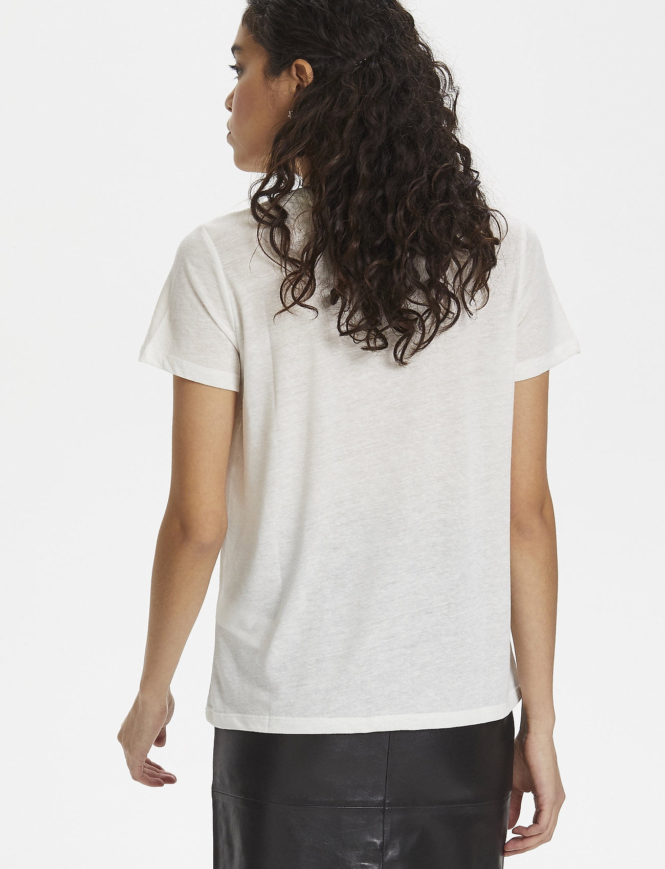 Soaked in Luxury SL Janet Tee - T-shirts & Tops BROKEN WHITE W CREME NIPS