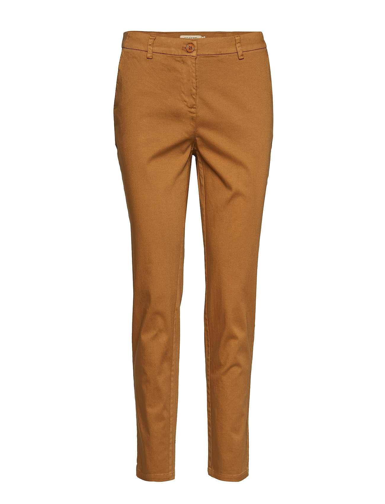 Soaked in Luxury Lillan Chino Pants - PECAN BROWN