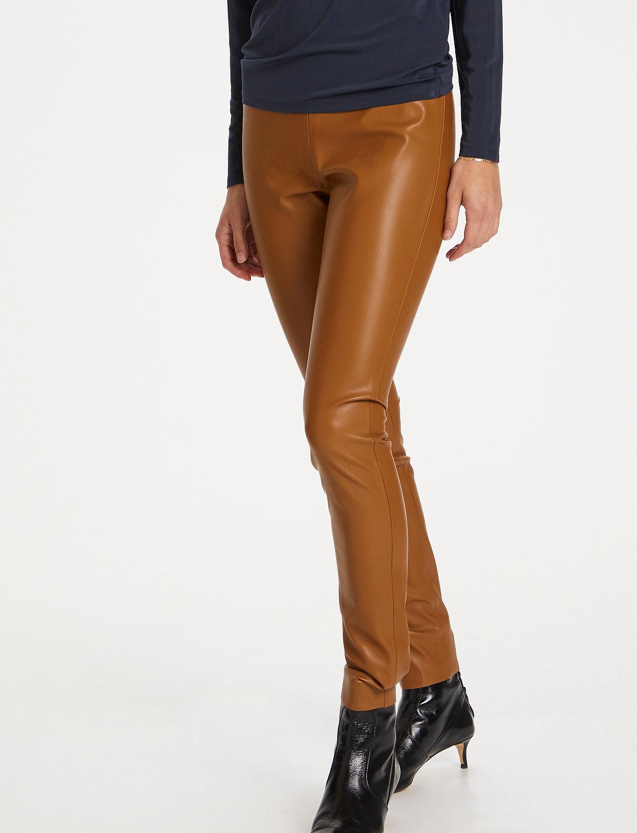 Soaked in Luxury - SLKaylee PU Leggings - læderbukser - rubber - 0