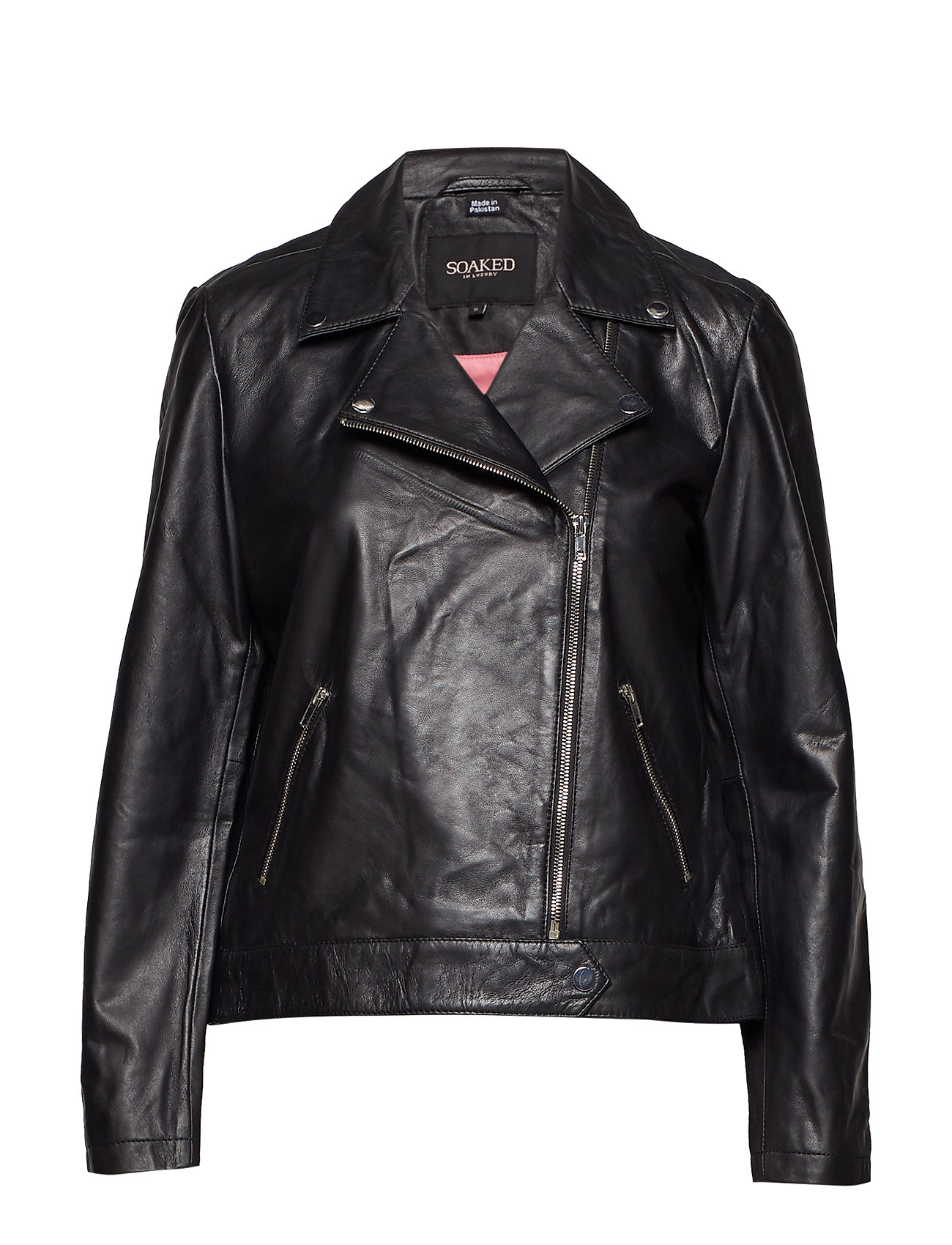 Image of Maeve Leather Jacket Ls Læderjakke Skindjakke Sort Soaked In Luxury (3181146435)