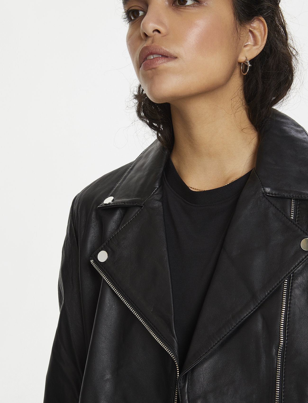 Soaked in Luxury - SLMaeve Leather Jacket LS - skinnjackor - black - 0