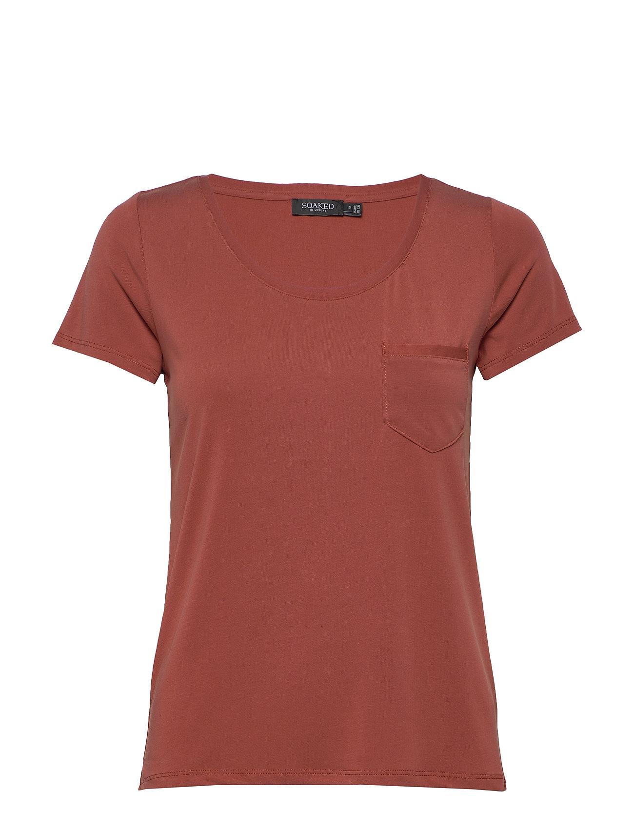 Image of Slcolumbine Tee T-shirt Top Rød Soaked In Luxury (3425609675)
