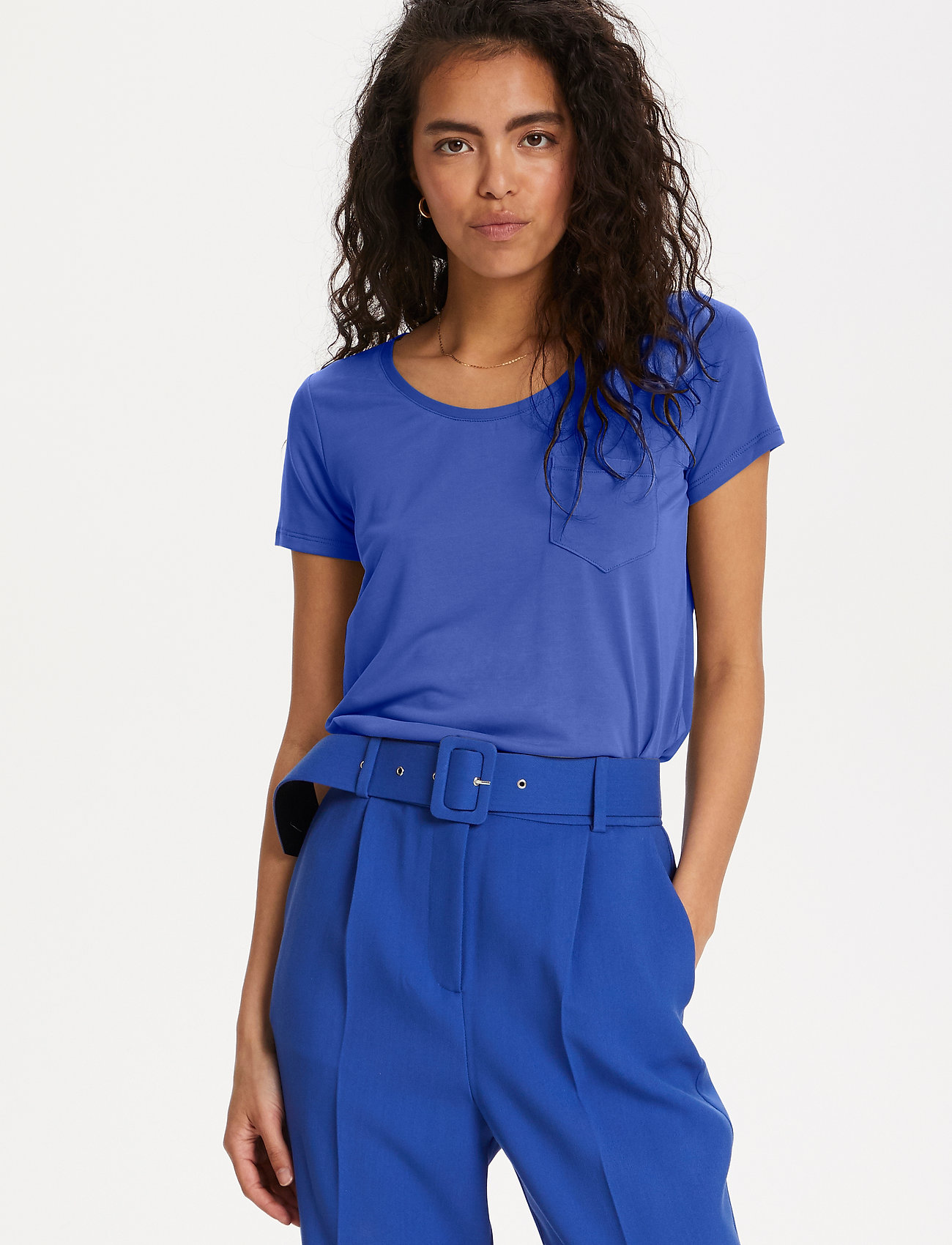 Soaked in Luxury - SLColumbine Tee - t-shirts - dazzling blue - 0