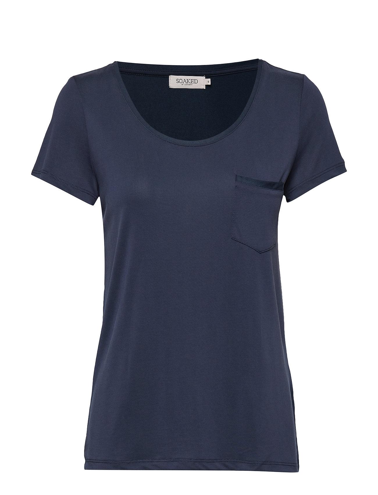 Image of Slcolumbine Tee T-shirt Top Blå Soaked In Luxury (3191978715)