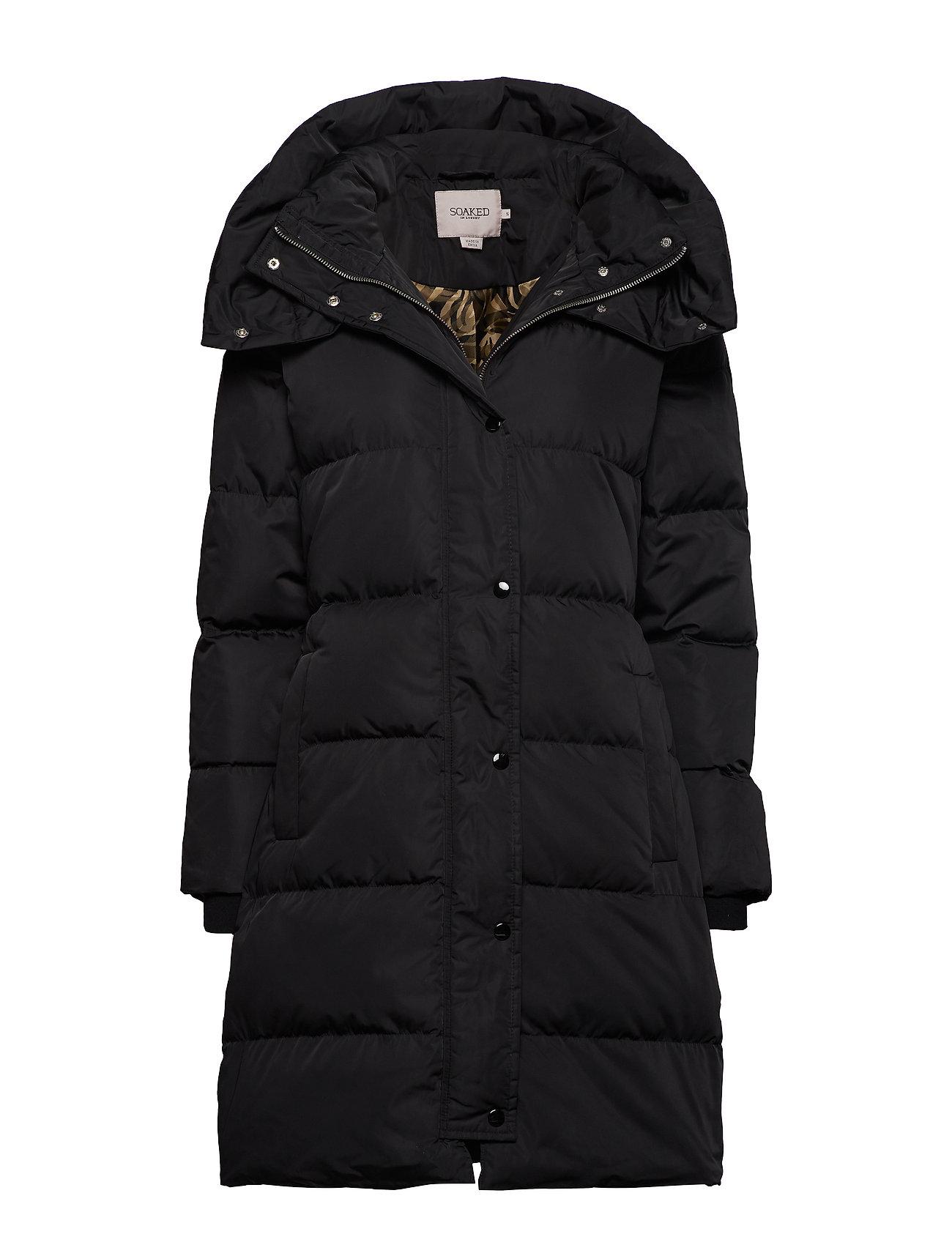 Soaked in Luxury SL Mala Puff Coat Long - BLACK