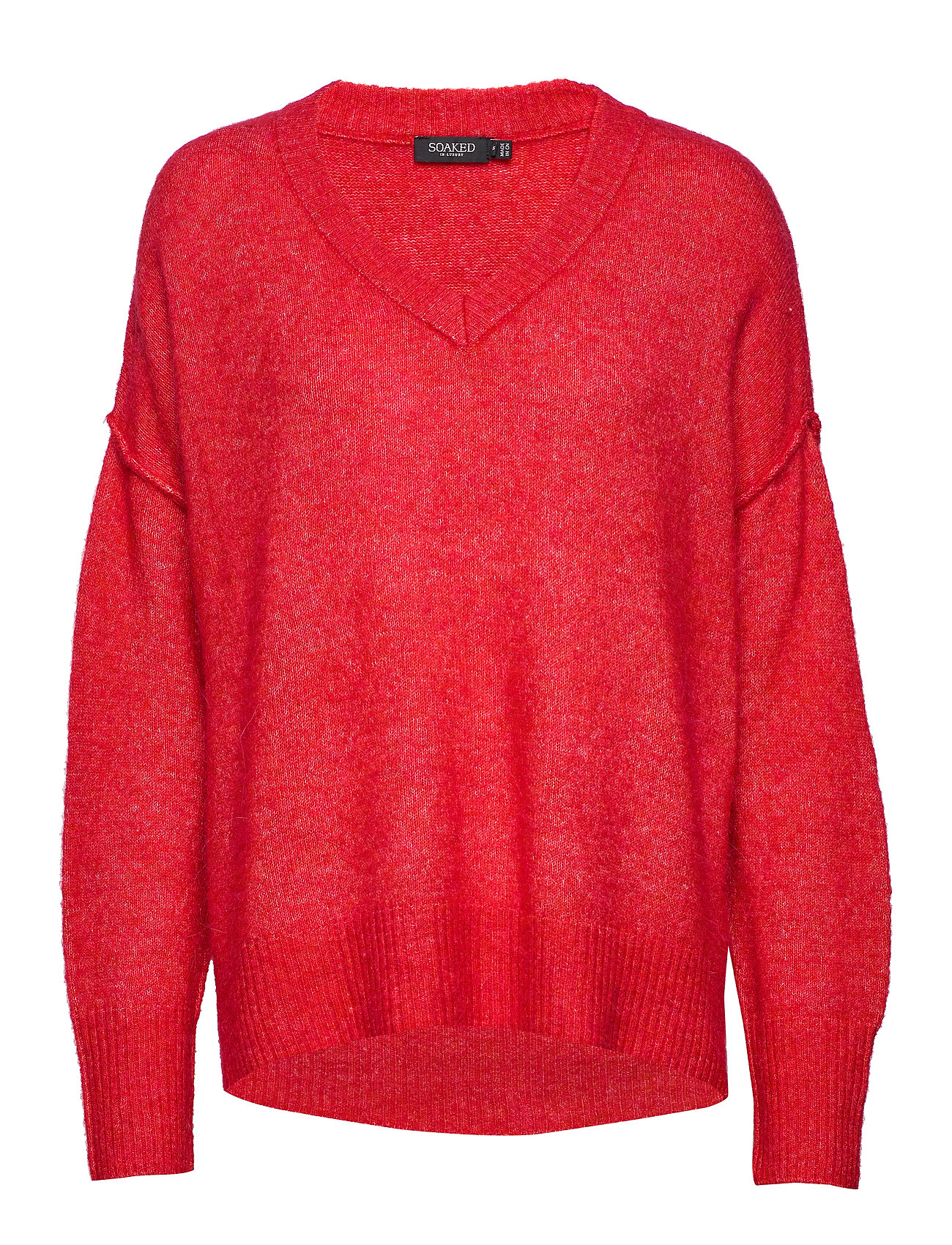 Soaked in Luxury SL Angel V-Neck Pullover LS - HIGH RISK RED