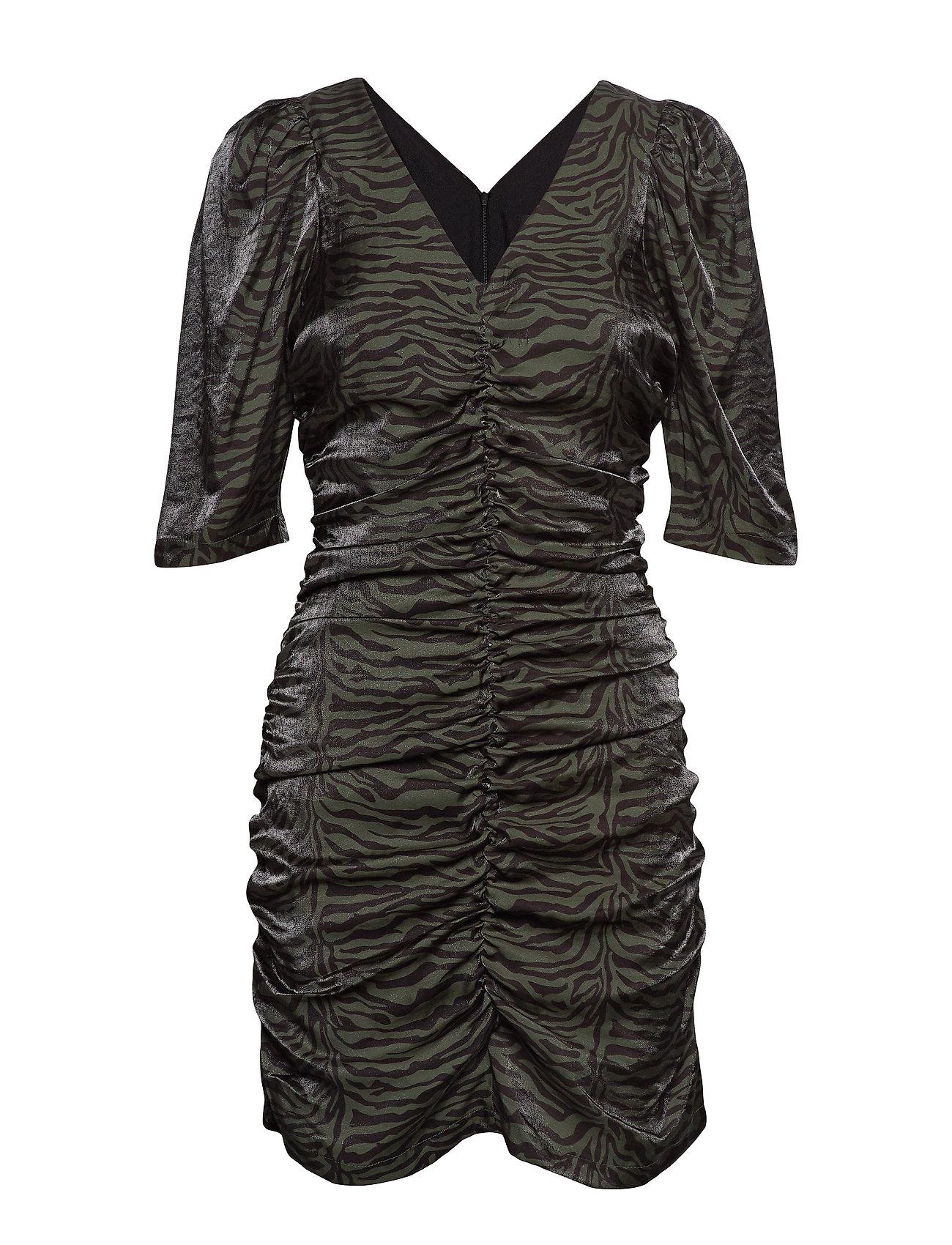 Soaked in Luxury SL Alexi Dress - FOREST NIGHT ZEBRA PRINT