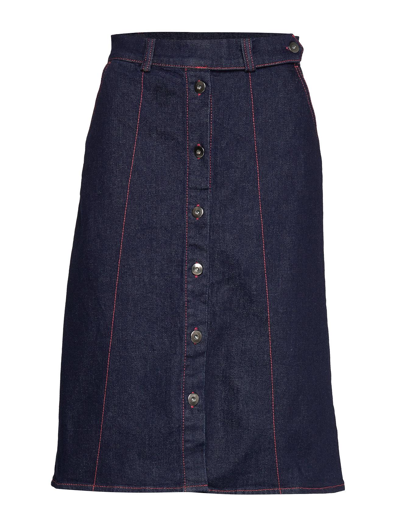 Soaked in Luxury SL Zadie Skirt - DARK BLUE DENIM