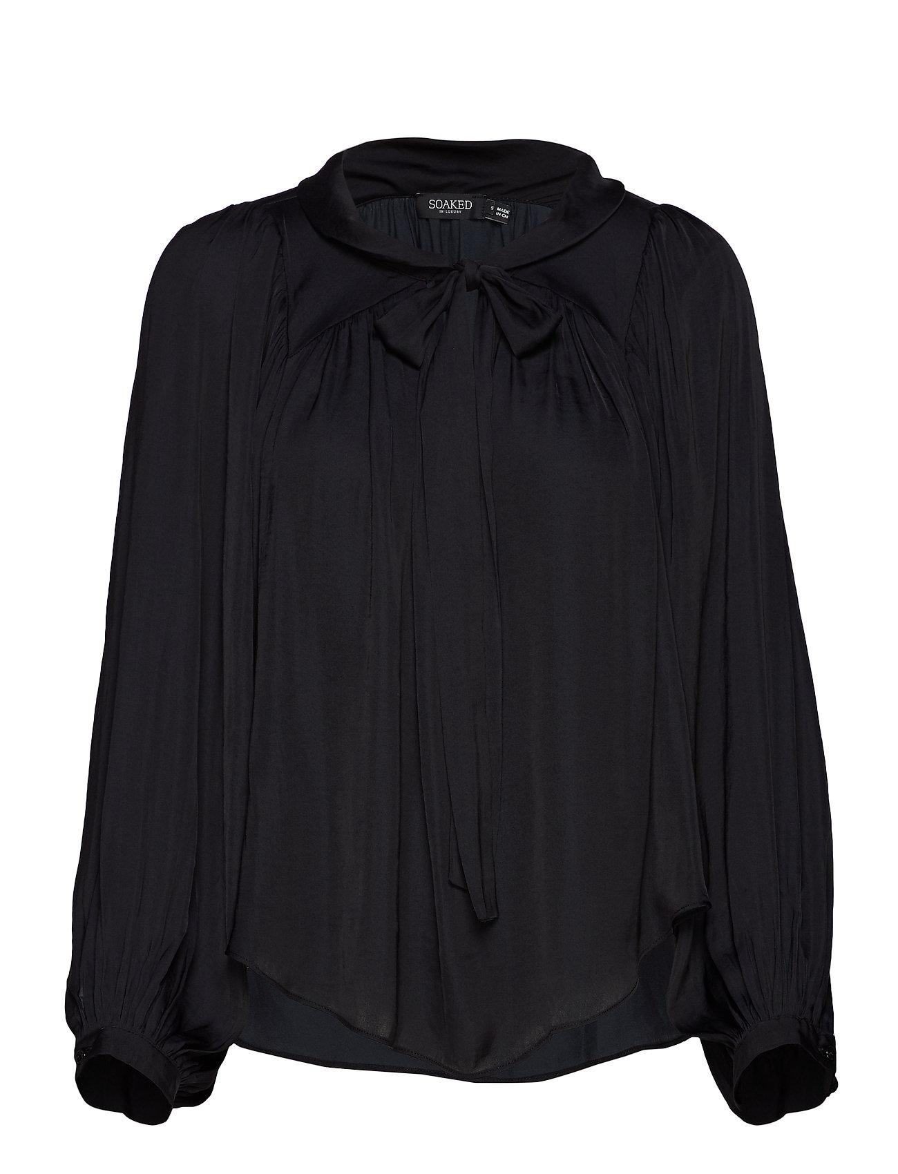 Soaked in Luxury SL Everlyn Blouse LS - BLACK