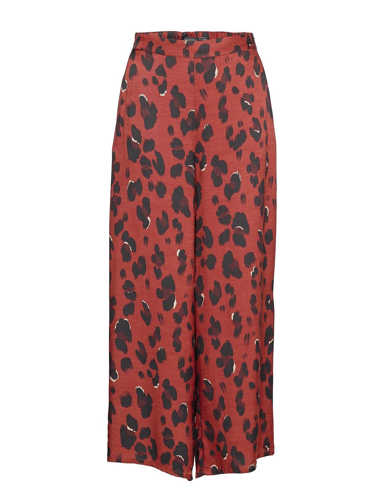 Soaked in Luxury SL Maxwell Pants - BURNT HENNA LEOPARD