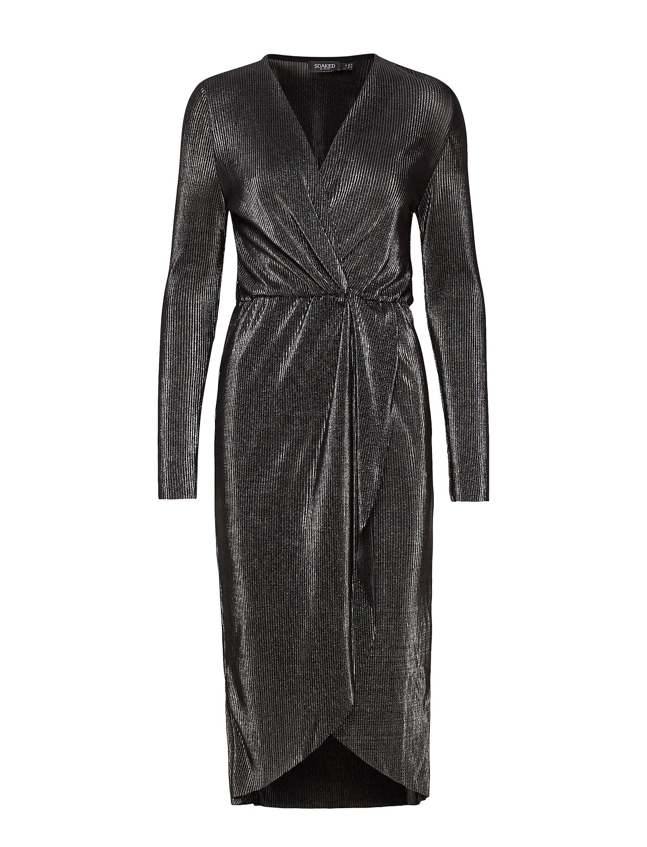 Soaked in Luxury SLRylee Dress LS - GUN METAL