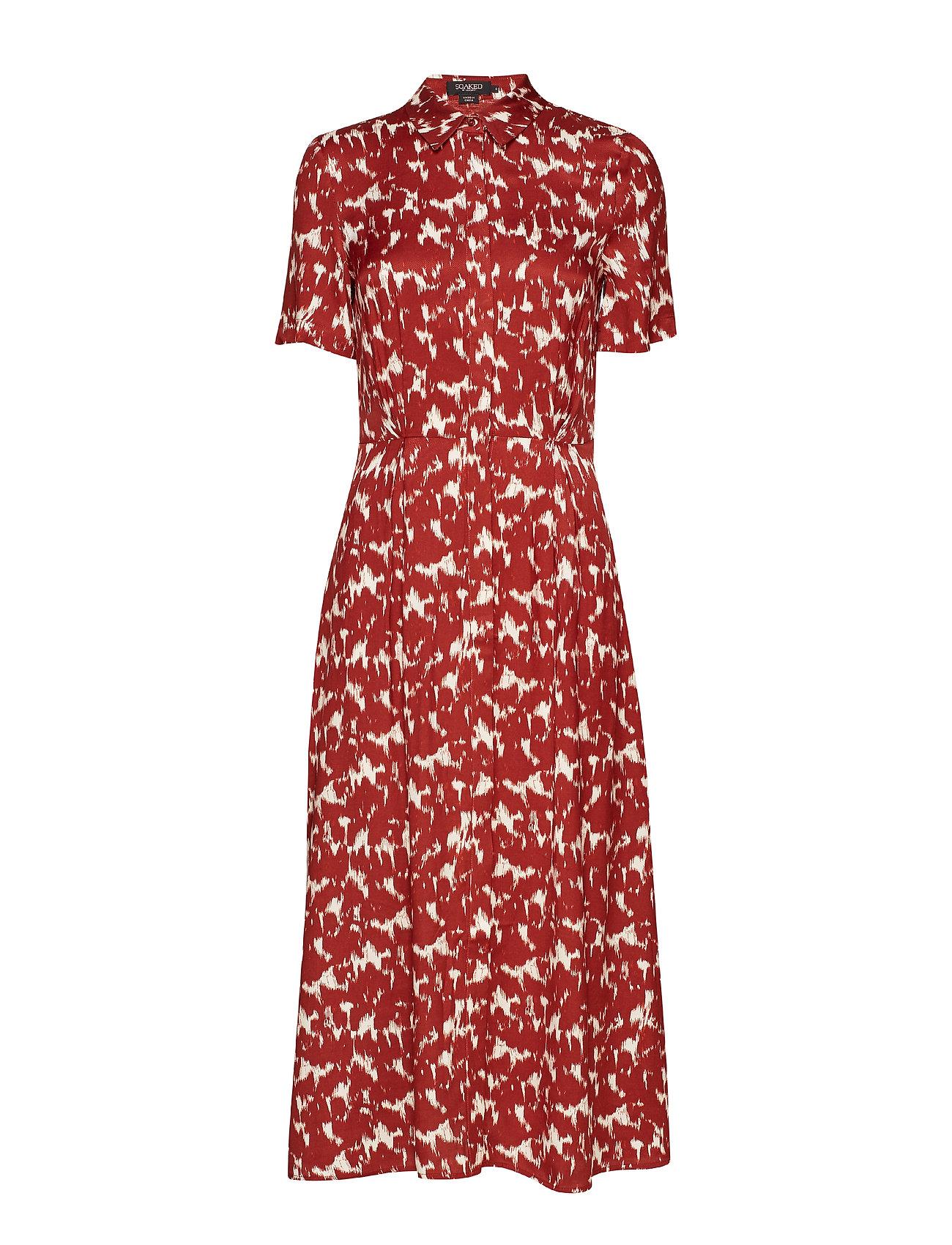 Soaked in Luxury SLZaldana Shirt Dress Print - FIRED BRICK PRINT