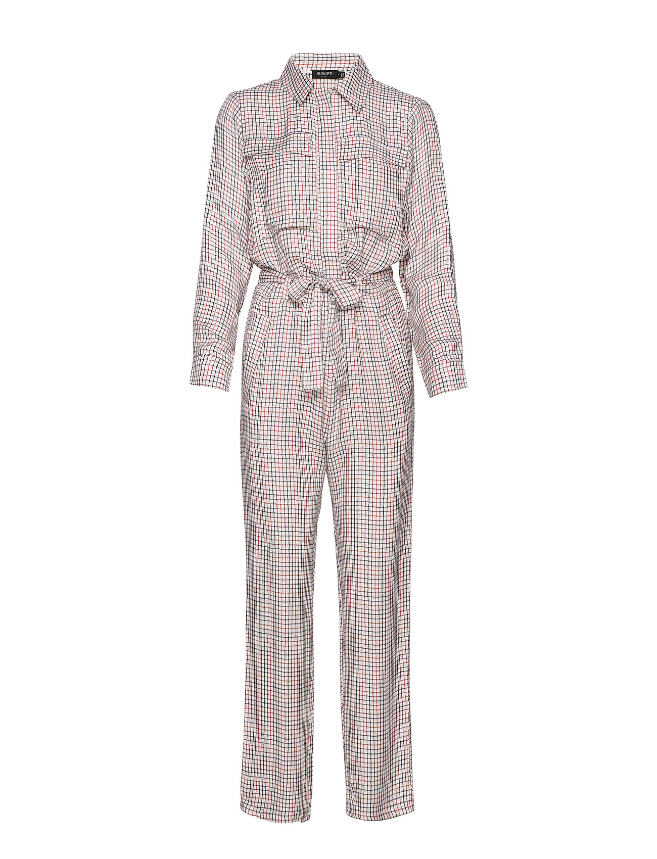 Soaked in Luxury SLKaia Jumpsuit - ANTIQUE WHITE CHECK PATTERN