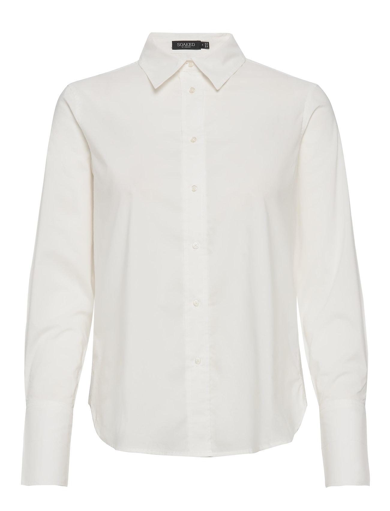 Soaked in Luxury SLPaper Shirt LS - BROKEN WHITE