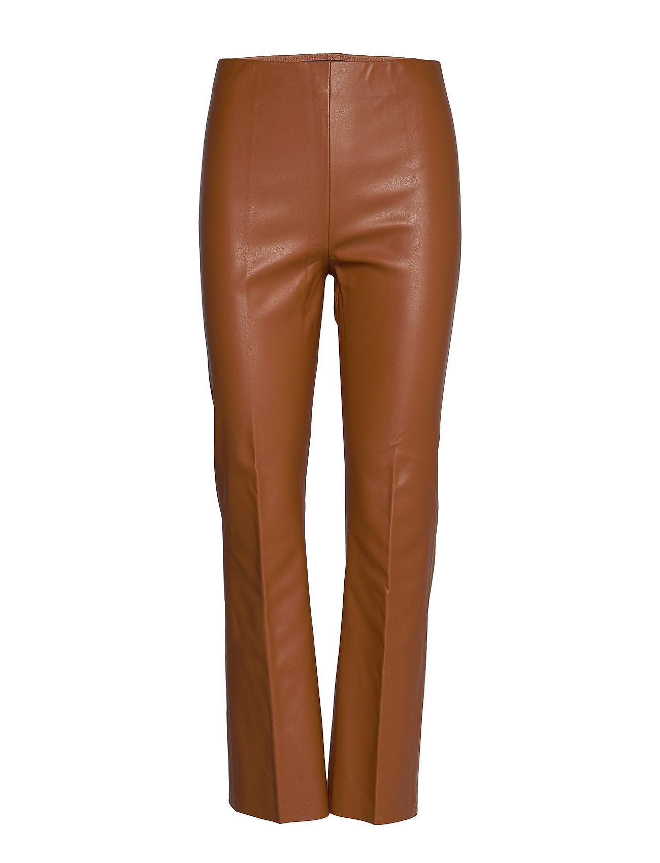 Soaked in Luxury SLKaylee PU Kickflare Pants - MOCHA BISQUE
