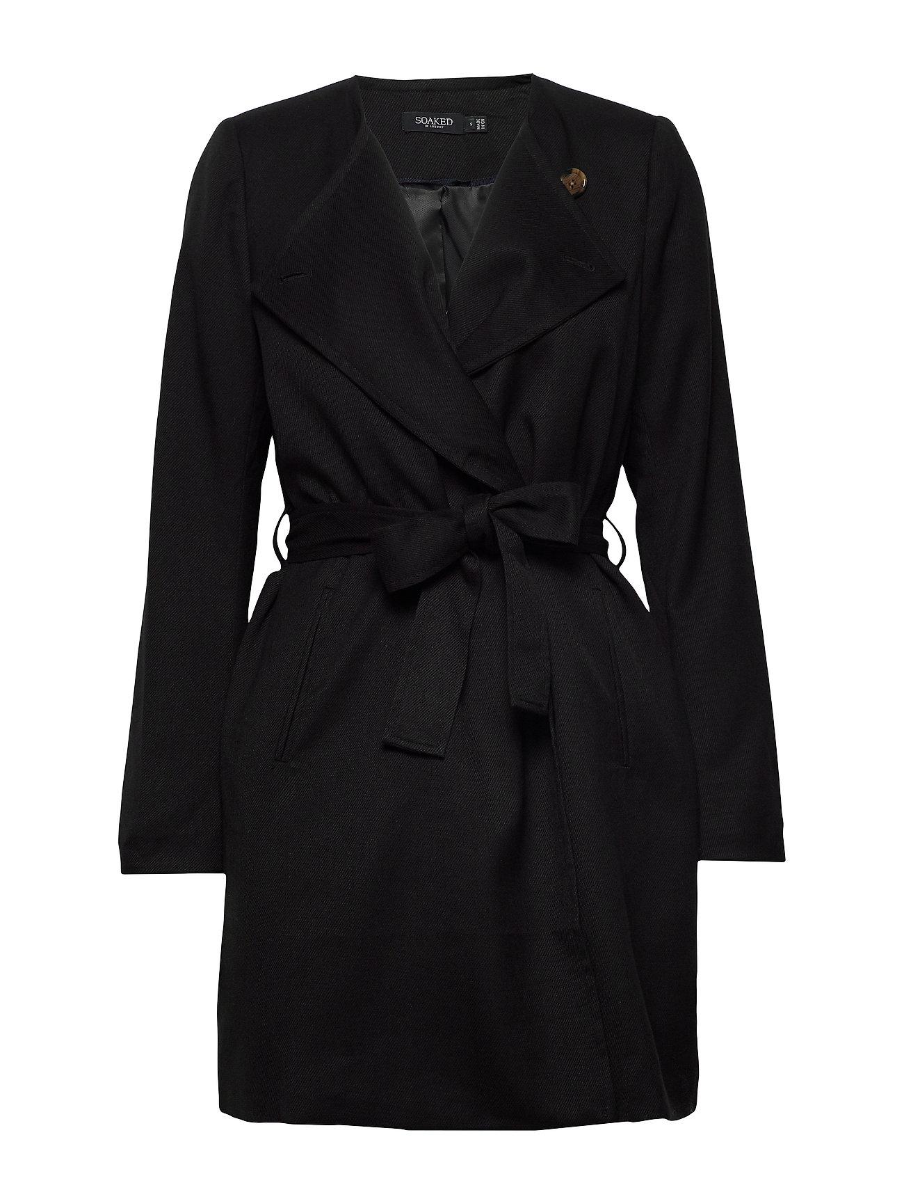 Soaked in Luxury SLMerle Coat - BLACK