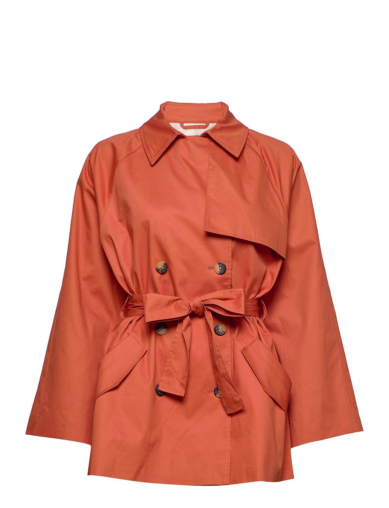 Image of Slchicago Short Trenchcoat Trenchcoat Frakke Orange Soaked In Luxury (3350043757)