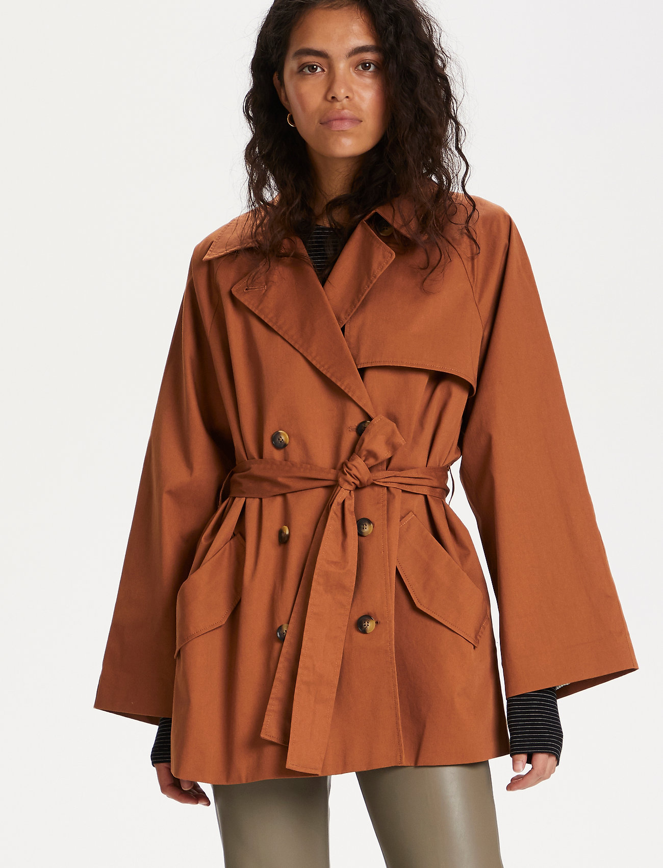 Soaked in Luxury - SLChicago Short Trenchcoat - trenchcoats - rubber - 0