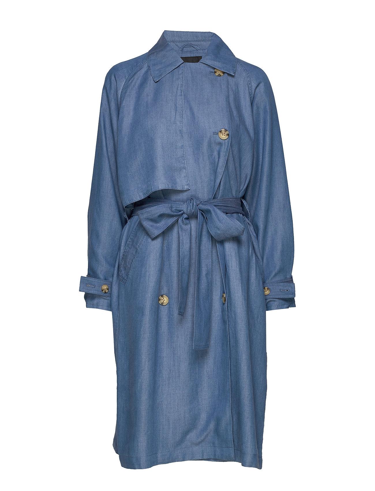 Soaked in Luxury SLNuna Trenchcoat - LIGHT BLUE DENIM