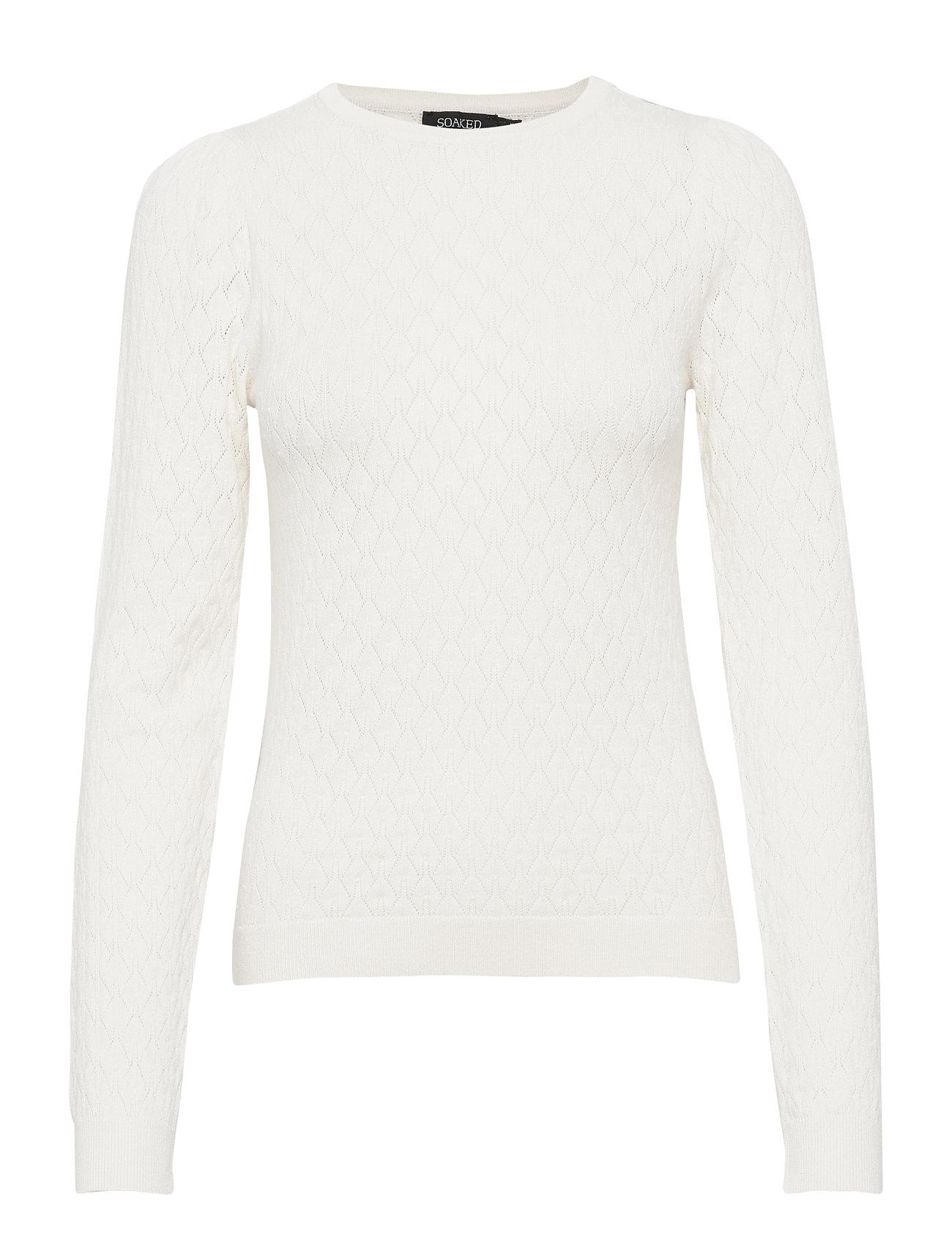 Soaked in Luxury SLZiga Menika Pullover - ANTIQUE WHITE