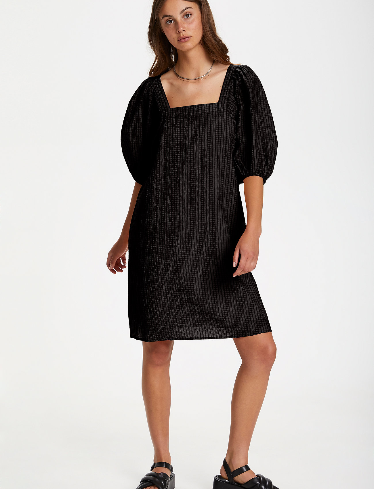 Soaked in Luxury - SLTautou Dress SS - summer dresses - black - 3