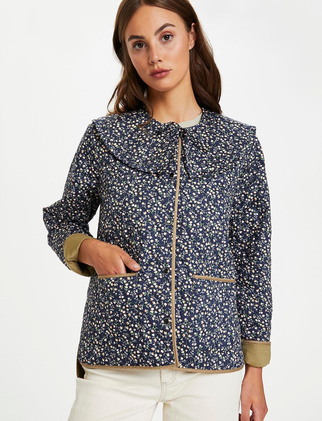 Soaked in Luxury - SLBanks Jacket LS - quiltede jakker - viol print parisian night - 0