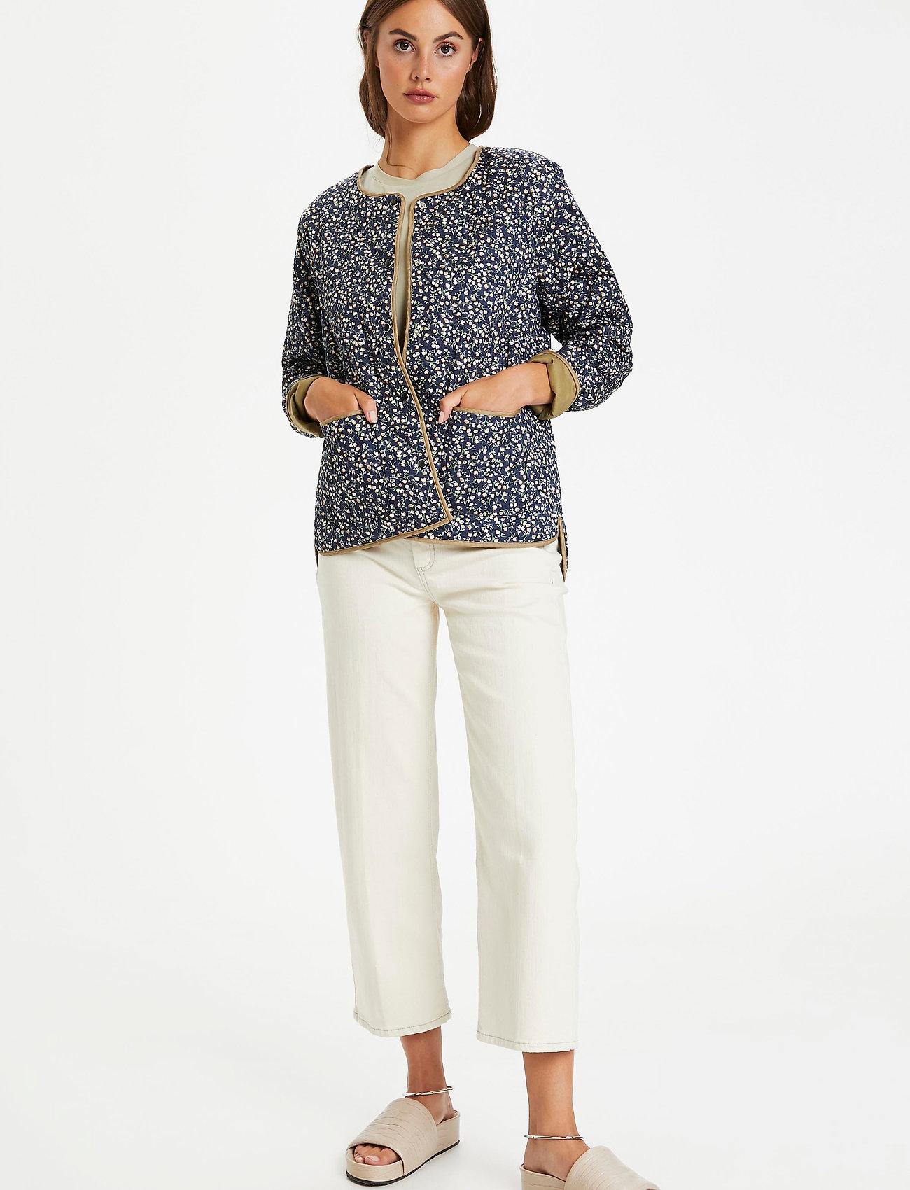 Soaked in Luxury - SLBanks Jacket LS - quiltede jakker - viol print parisian night - 3