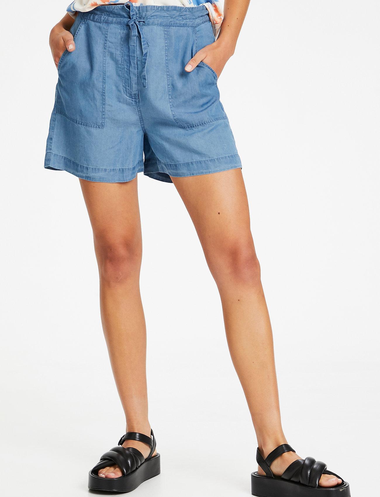 Soaked in Luxury - SLDalia Shorts - shorts casual - light blue denim - 0