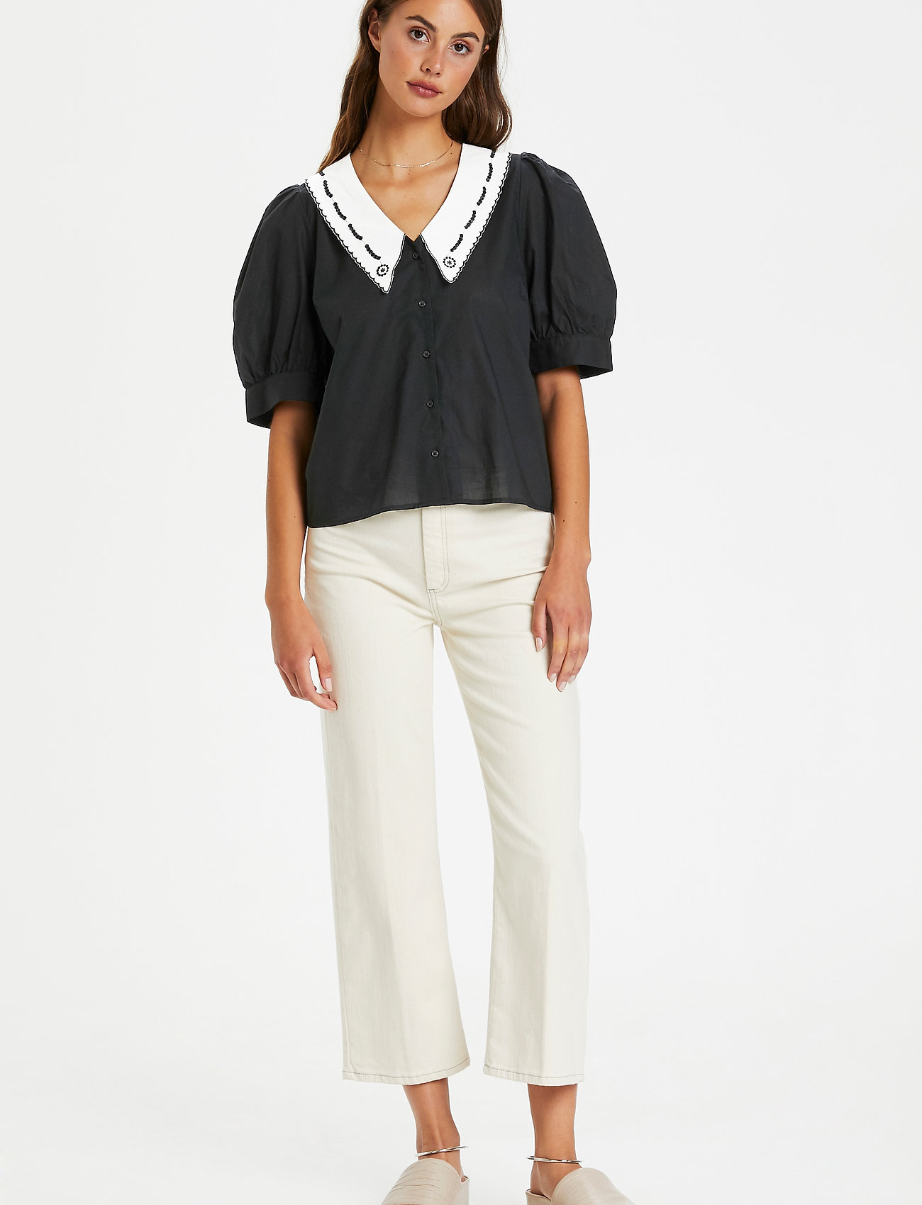 Soaked in Luxury - SLFlor Shirt - short-sleeved shirts - black - 3