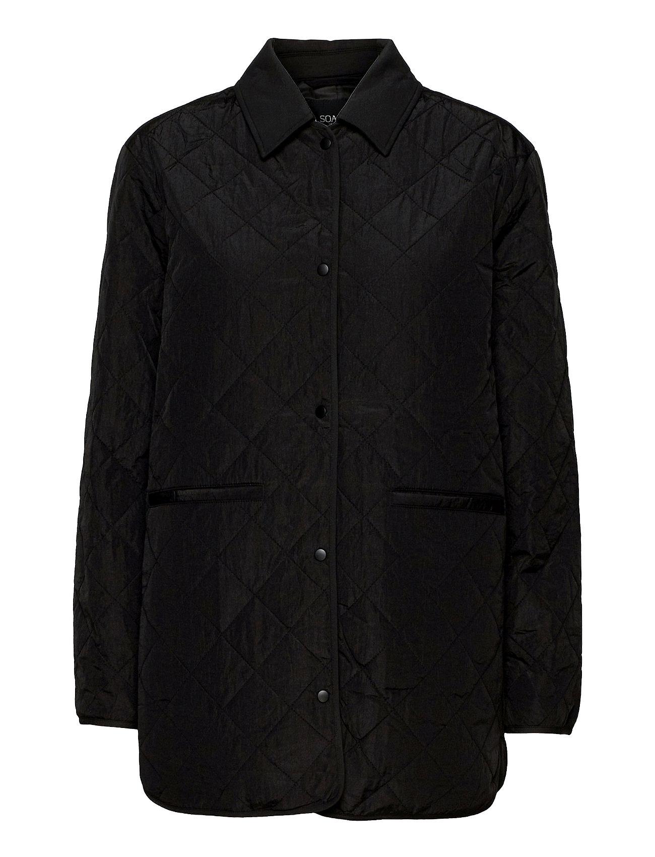 Slumina Jacket Quiltet Jakke Sort Soaked In Luxury