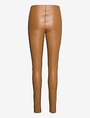 Soaked in Luxury - SLKaylee PU Leggings - læderbukser - rubber - 2