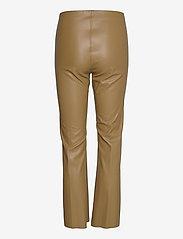 Soaked in Luxury - SLKaylee PU Kickflare Pants - læderbukser - ermine - 2