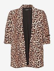 Soaked in Luxury - SLShirley Printed Blazer - casual blazers - beige leopard - 0