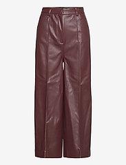 Soaked in Luxury - SLPatrice Pants - læderbukser - rum raisin - 1