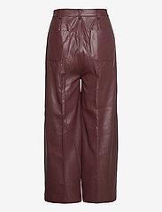 Soaked in Luxury - SLPatrice Pants - læderbukser - rum raisin - 2