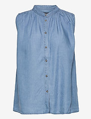 Soaked in Luxury - SLDalia Nadeen Top - sleeveless blouses - light blue denim - 1