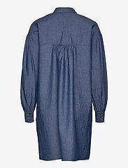 Soaked in Luxury - SLAlf Arcy Dress LS - skjortklänningar - classic blue denim - 1