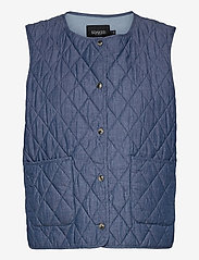 Soaked in Luxury - SLAlf Waistcoat - puffer vests - classic blue denim - 0