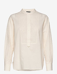 Soaked in Luxury - SLOunce Shirt LS - long-sleeved shirts - whisper white - 0