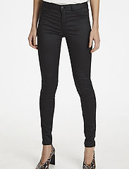 Soaked in Luxury - SLLeia coated Jeggings - slim fit trousers - black - 6