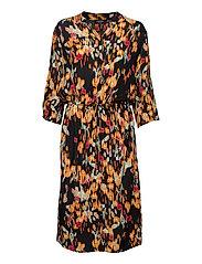 SL Zaya Dress - DIZZY FLORAL PRINT BLACK